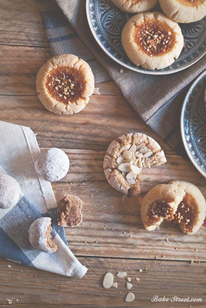 Almond cookies with ginger, caramel and cinnamon - Galletas de almendra sabor jengibre, caramelo y canela