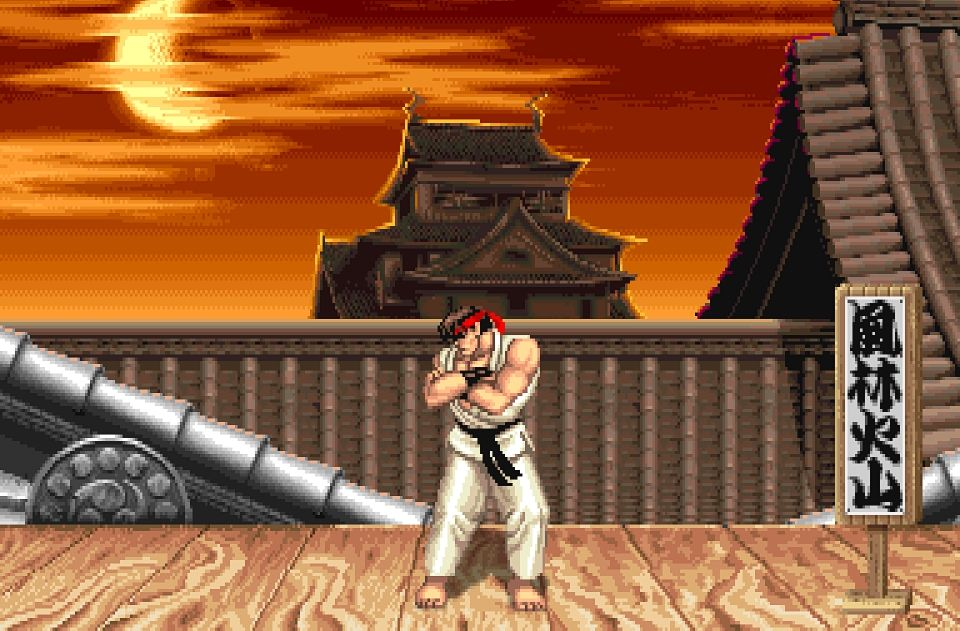 Poster Of Ryu S Stage From Streetfighter Ii Fantasias
