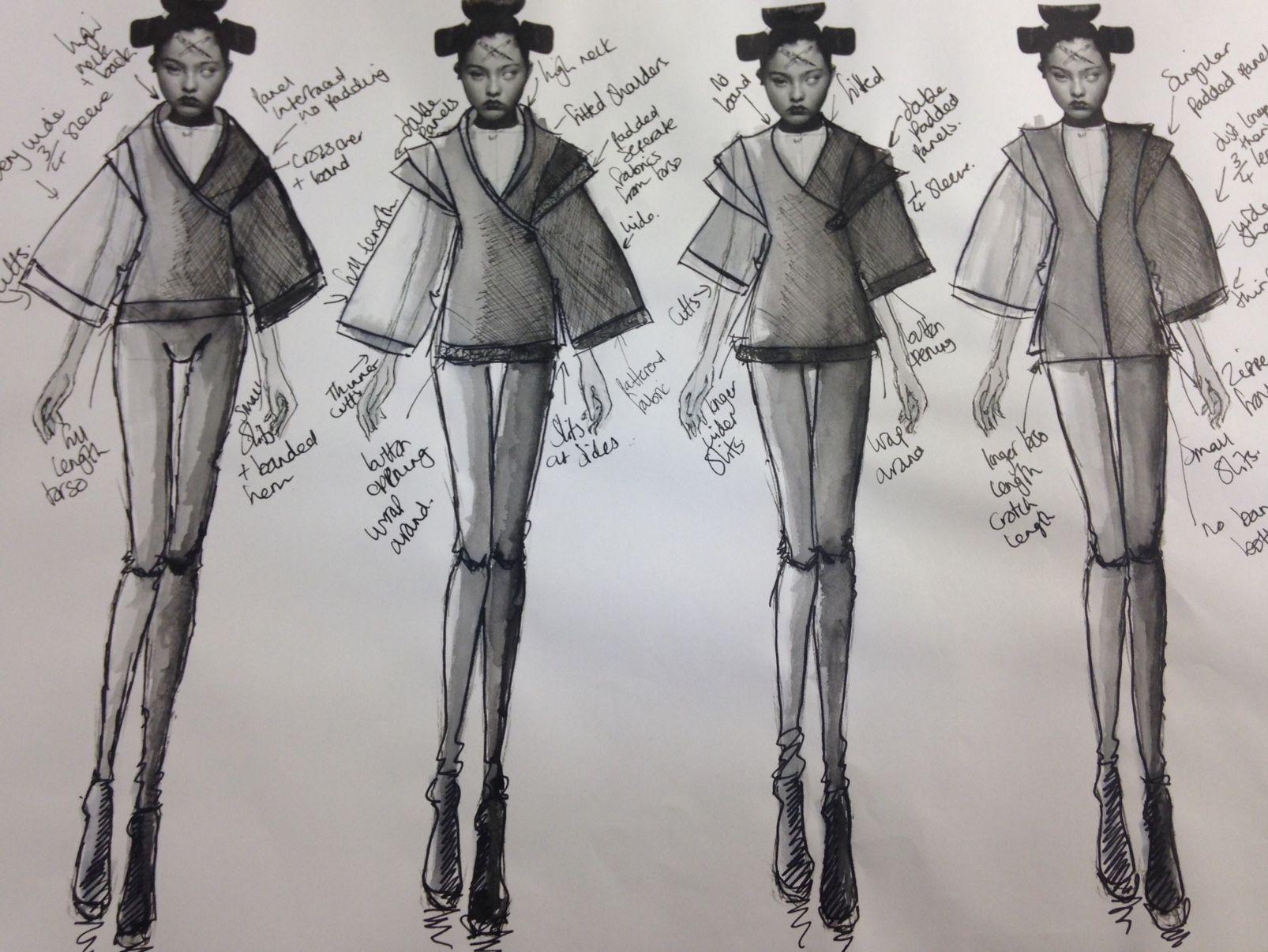 Board 9  #Japan #Samurai #AlexanderMcQueen #McQueen #Fashion #Illustration #FashionIllustration #Design #Project