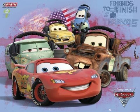 Cars 2 Group Poster Bei Monkeyposters De Disney Posters Cars