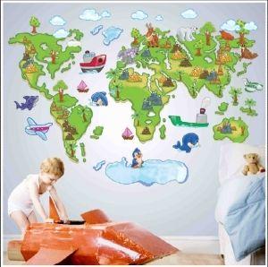 Sisustustarra maailman kartta