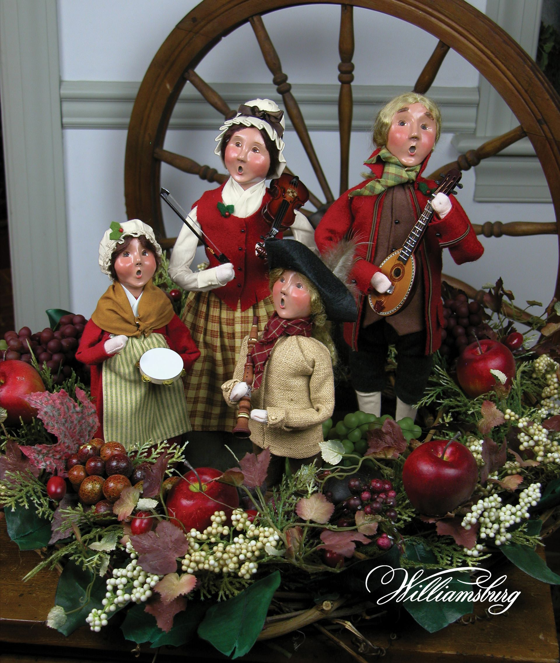 Christmas Carol Singers Decorations: Byers' Choice Carolers – Colonial Musicians