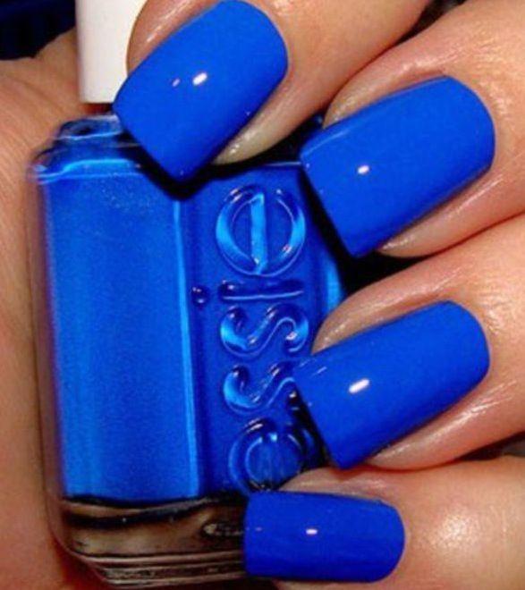 Essie Electric Shock Blue Nail Art Ongles Vernis Bleu Et Vernis 224 Ongles