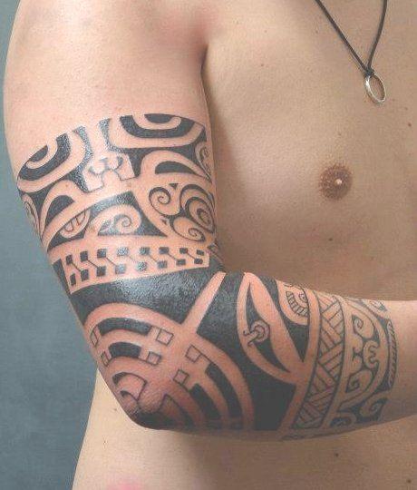 Tatouage Polynesien Bras Coude Tattoo