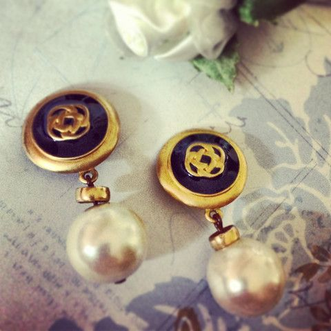 Gold & Pearl Clip Earrings: Old Glamourous Charm Revisit