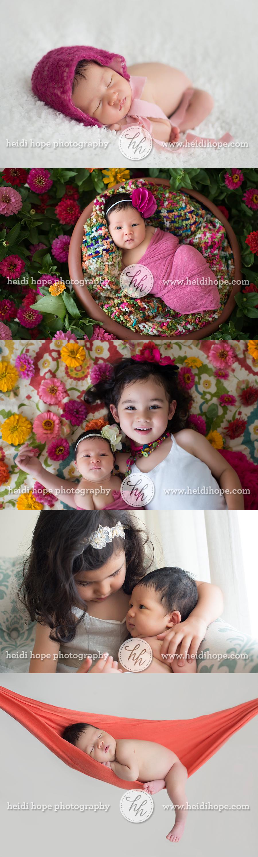 bright and colorful newborn session web
