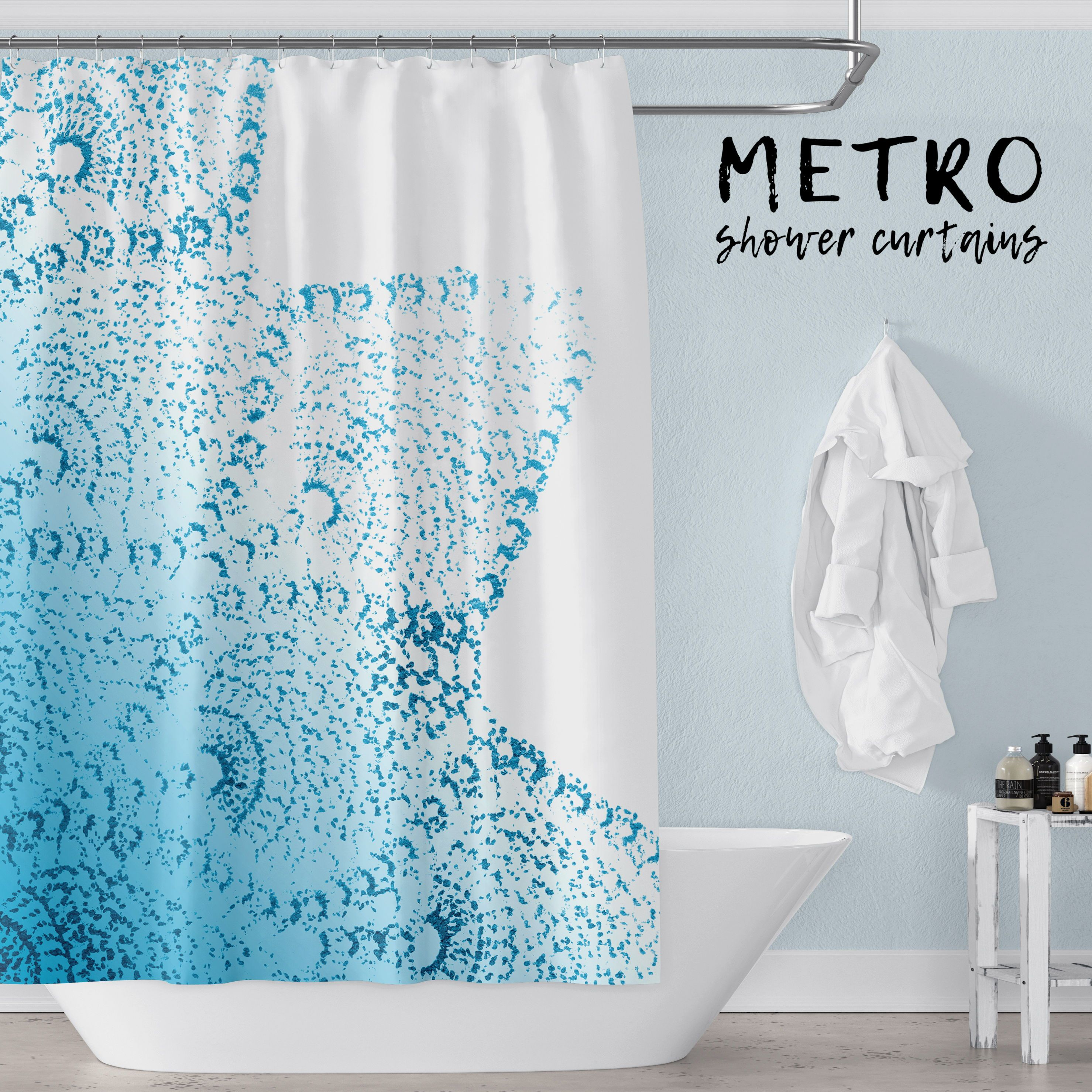 Tropical Teal Ombre Lace Mandala Tropical Beach Chic Shower