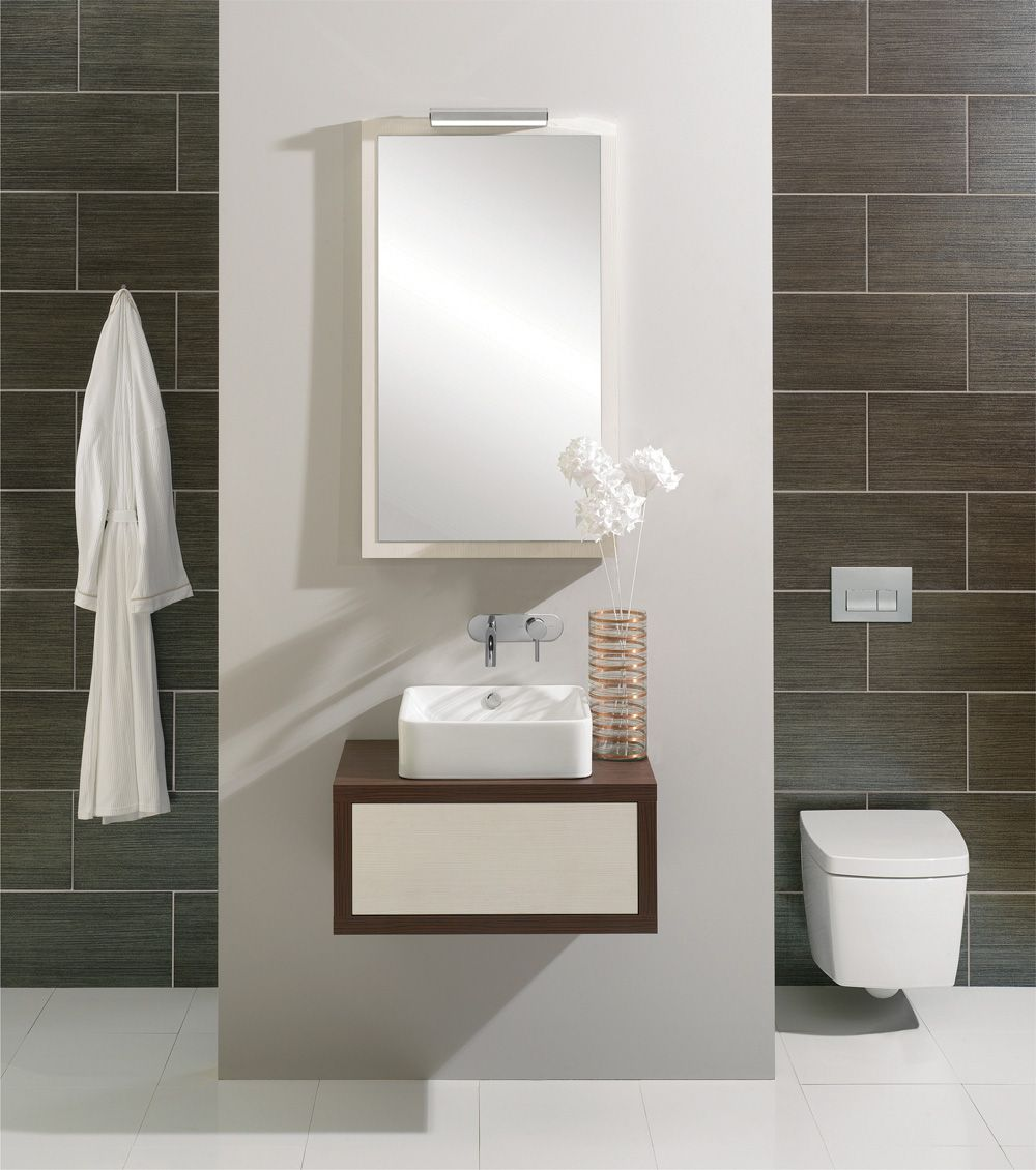 Bauhaus Touch 650mm Sienna Finished Single Drawer Basin