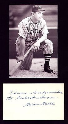 Vintage Cleveland Indians Beau Bell Photo Postcard With Signed