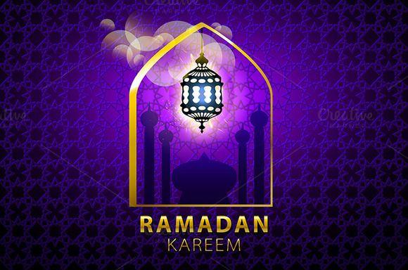 Purple Background Islamic Design
