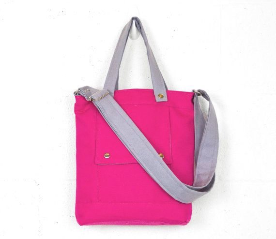Packet in Neon Pink and Silver Canvas  Ready to by jennyndesign, $98.00