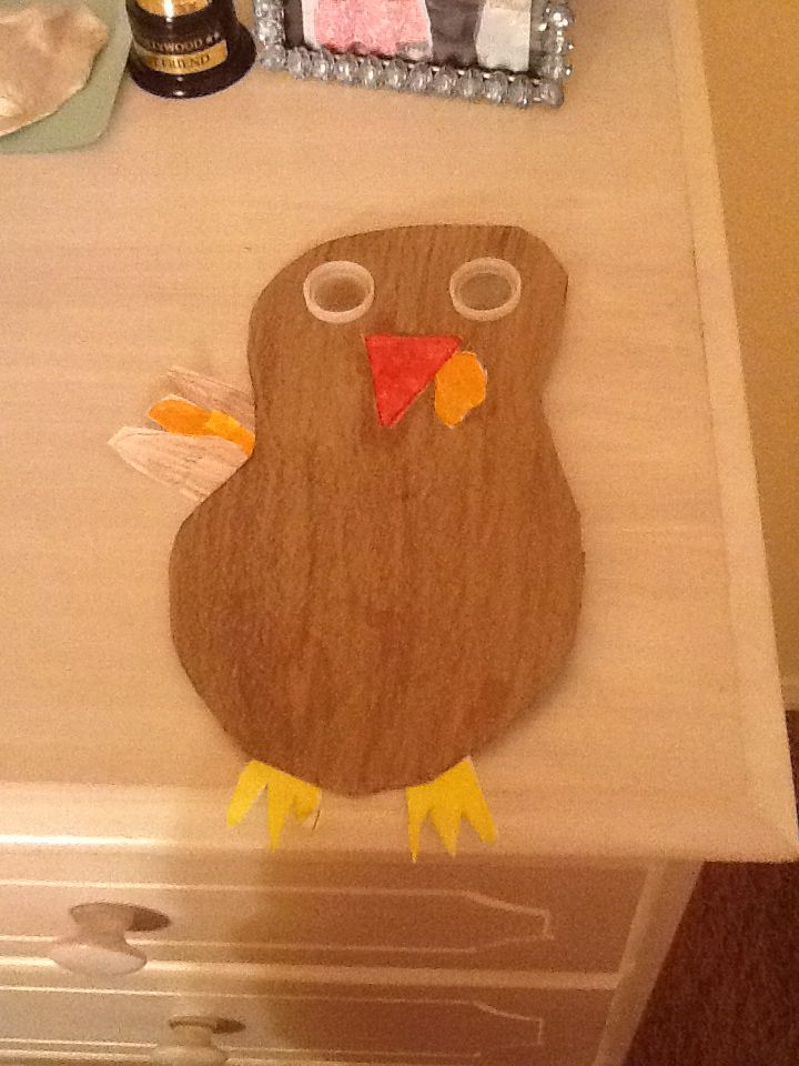 Made a new turkey for a school project