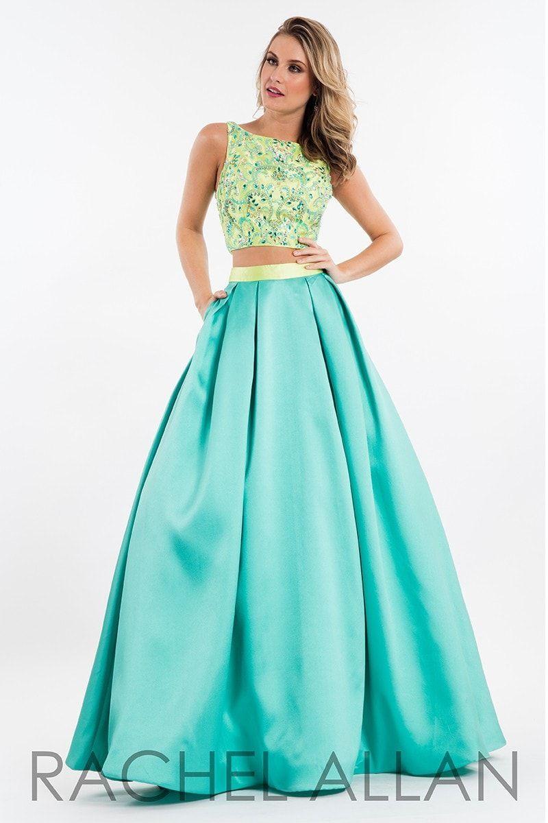 Rachel Allan 7515 Lime/Aqua Green Mikado Prom Dress | Products ...