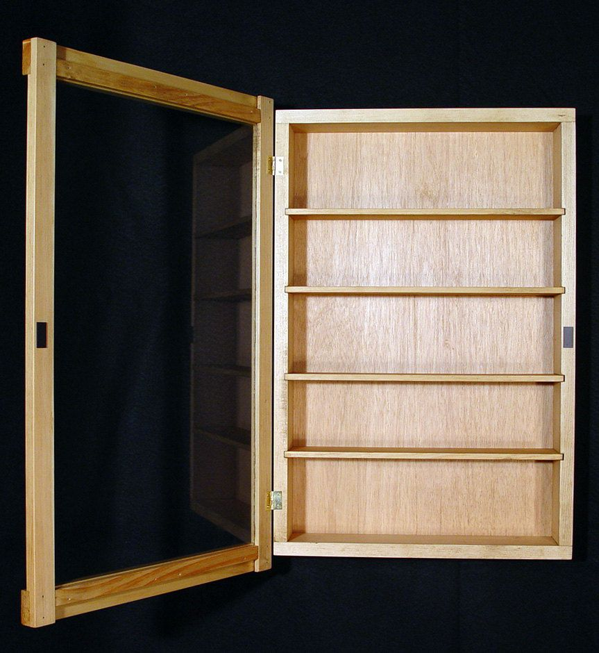 Wall Curio Cabinet Display Case Shadow Box 56 00 Via Etsy