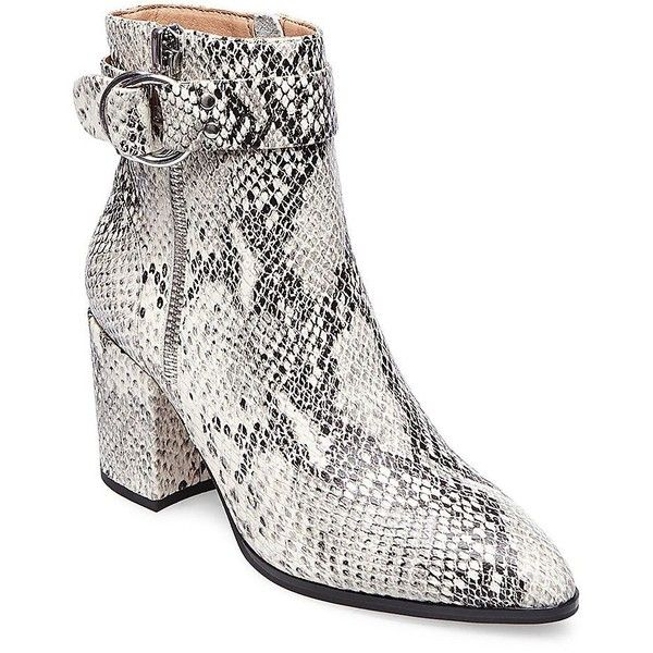 07ea6cb9c8cf Steven by Steve Madden Women s Snake Print Leather Booties ( 149) ❤ liked  on Polyvore featuring shoes