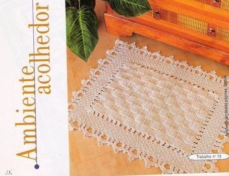 Очень красивые вязаные коврики по схемам . Обсуждение на ...