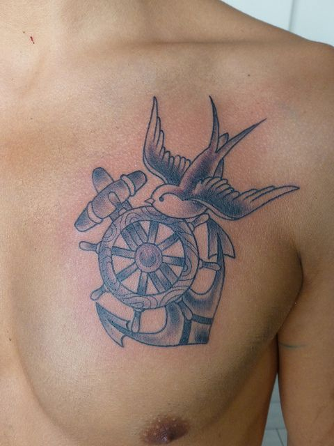 Anchor Chest Chest Tattoos For Women Sparrow Tattoo Design Tribal Sleeve Tattoos