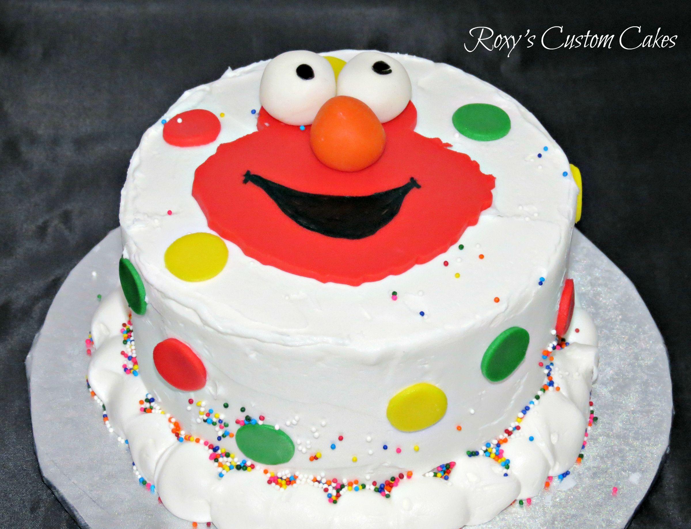 Elmo Smash Cake Sesame Street Sweet Table