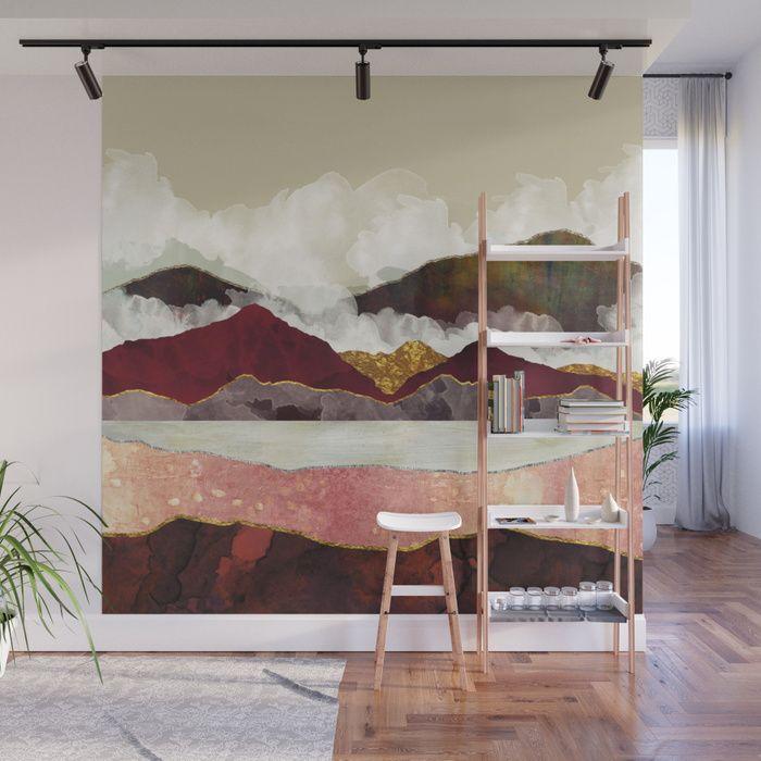 Golden Peaks Wall Mural Vista Dining Room In 2019 Wall
