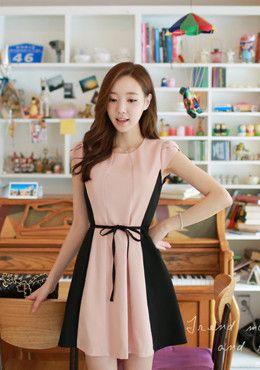 FIONA<BR>Color Line Dress