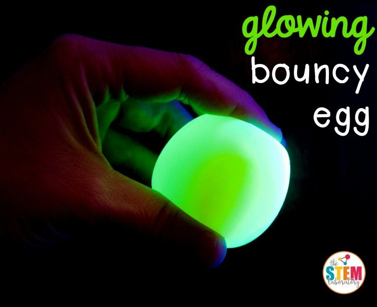 Glowing Bouncy Egg Cool Science Experiments Science Fair Experiments Science Projects For Kids