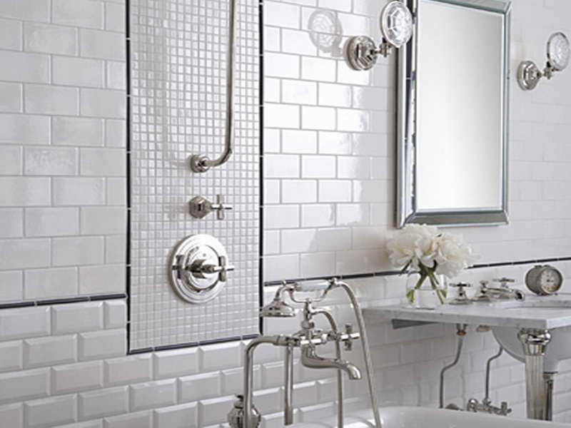 Creating A Stylish Bathroom Wall Tiles Design With White Series ...