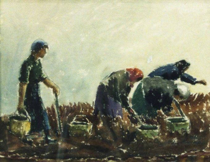 Taidemaalari Viljo Hurmeen työnkuvia: Peltotyöt