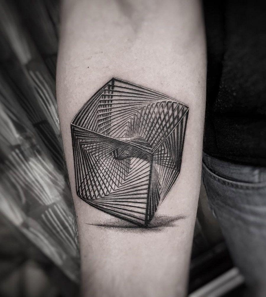 Complex geometric cube - Wicked 3d tattoos ...