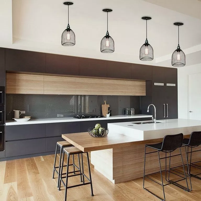 25 Innovative Black White Wood Kitchens Design Ideas 00025