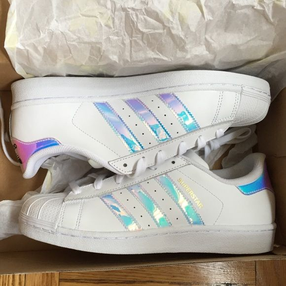 adidas iridescent holographic superstars brand new never. Black Bedroom Furniture Sets. Home Design Ideas