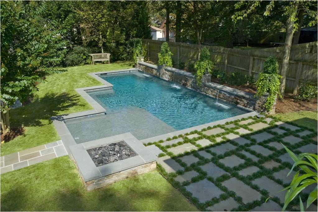 Water Wall Geometric Pool Custom Swimming Pool Luxury Swimming Pools