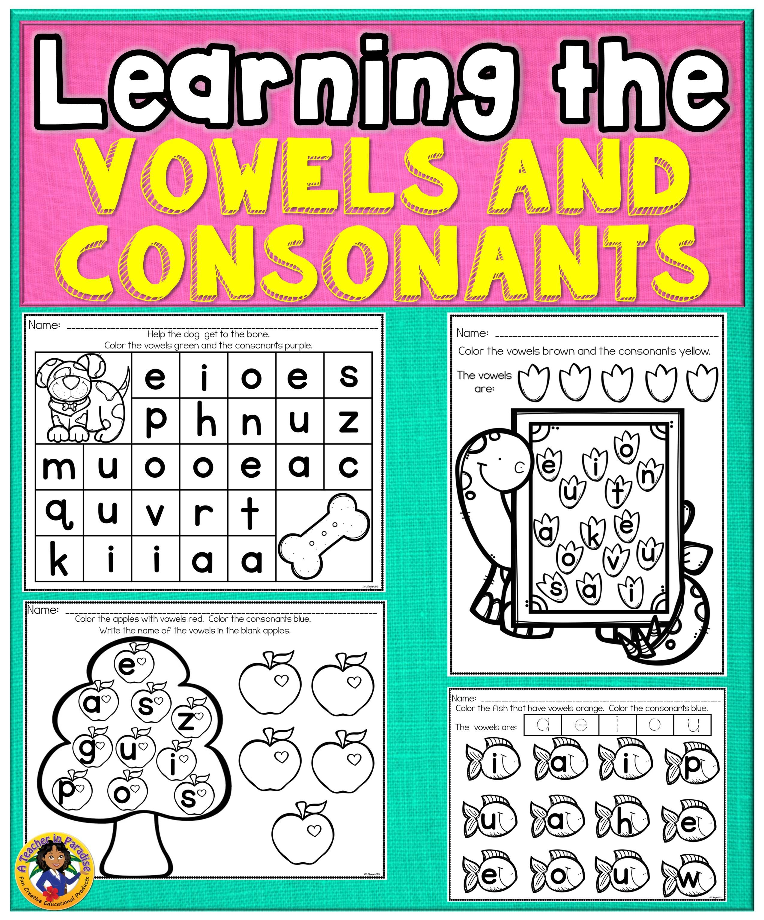 Vowels Vowel Fun Worksheets Types Of Lettering