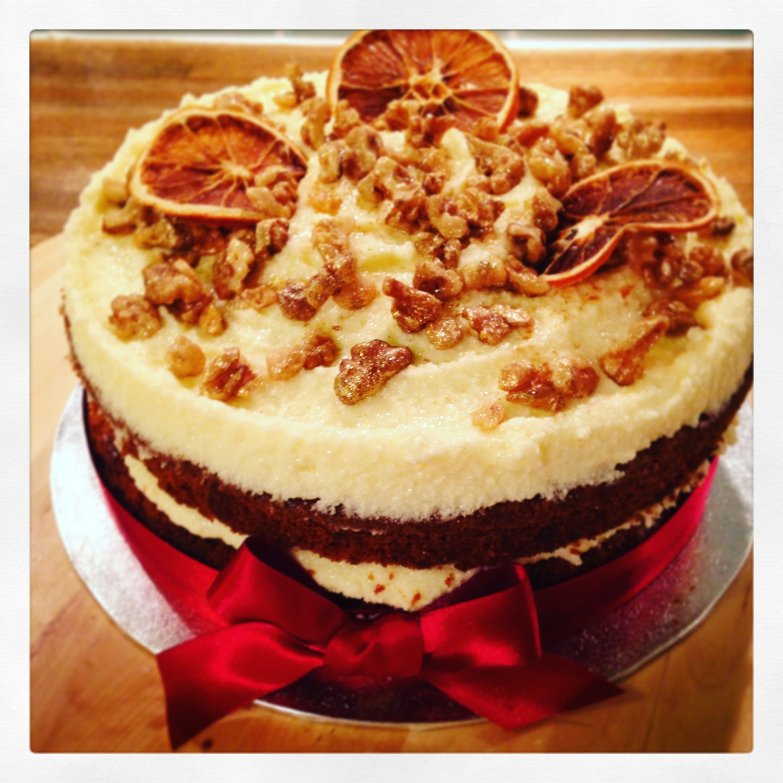 Christmas time spiced orange carrot cakegluten free of