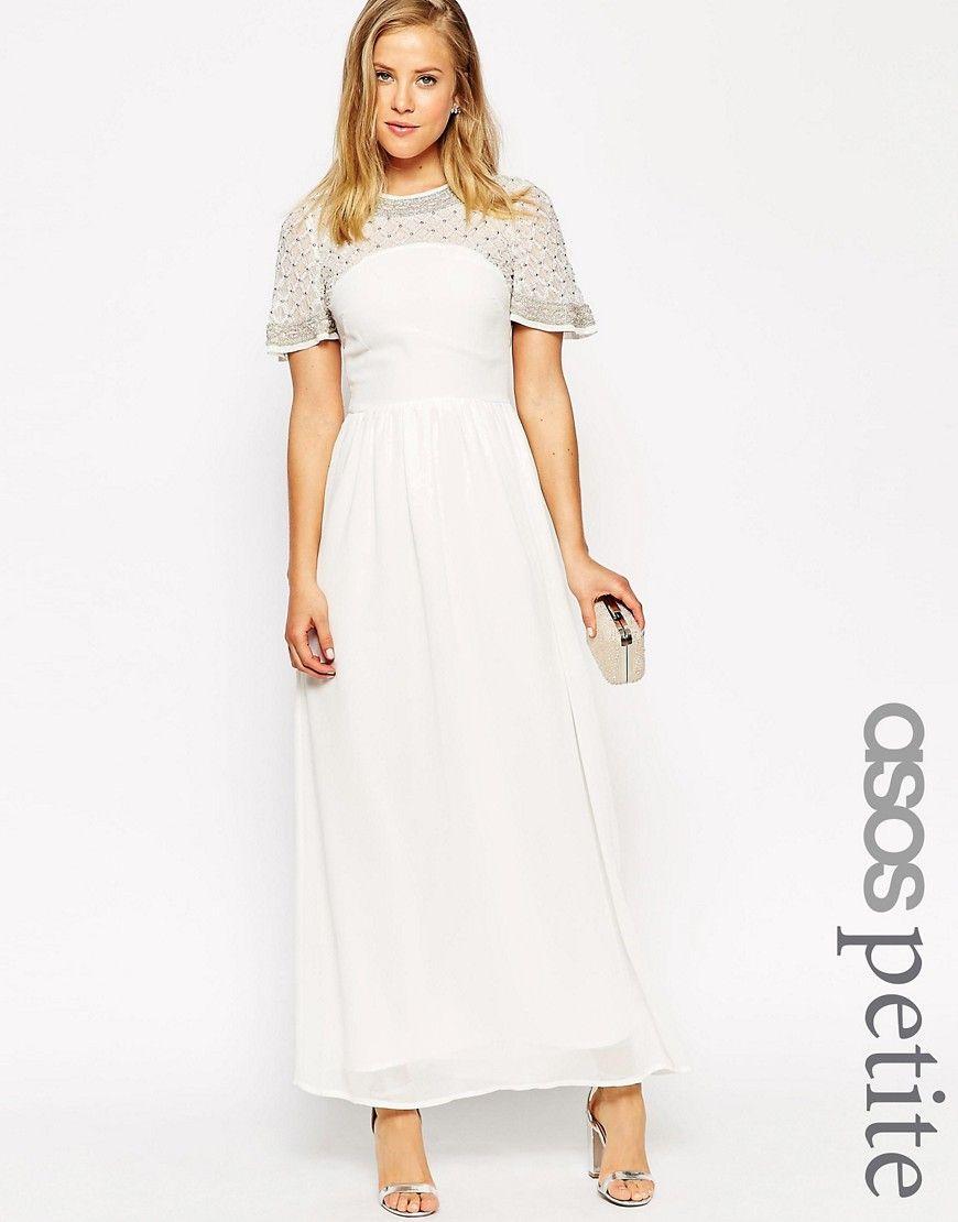 ASOS PETITE Premium Princess Cluster Maxi Dress | Things to Wear ...