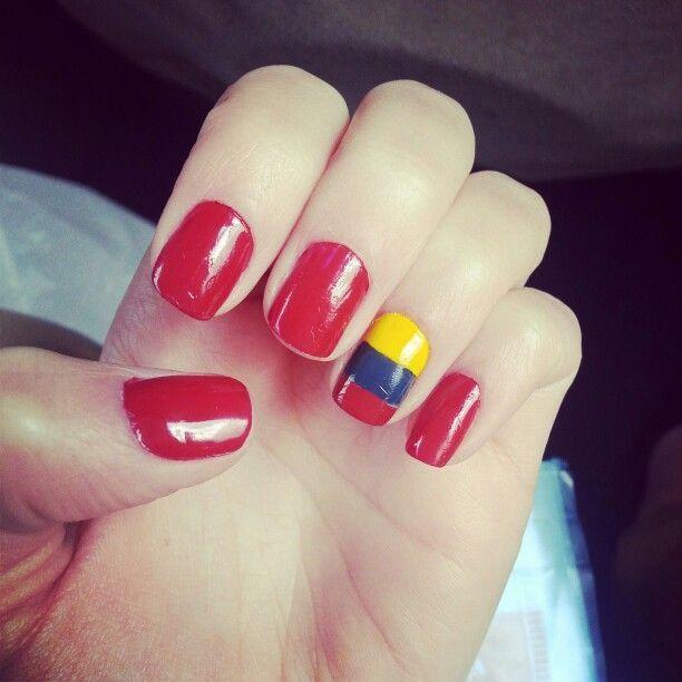 Uñas decoradas con la bandera o colores de Ecuador | Decoración de ...