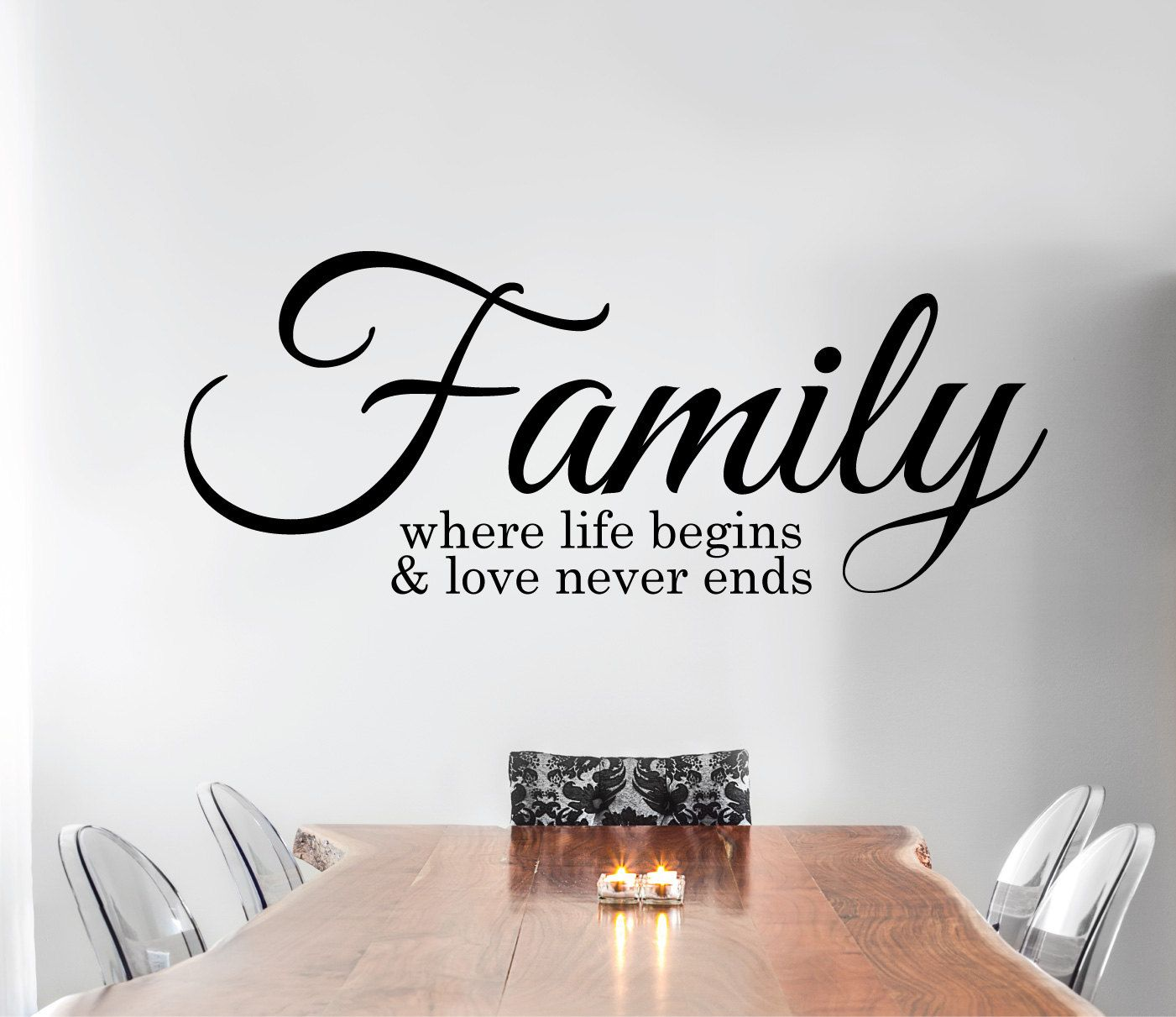 Family Wall Sticker Quote Family Where Life Begins And Love Never Ends L Family Wall Decal Quote Saying Home Wall Decor Family Wall Decals Family Wall Decals Quotes Wall Stickers Quotes