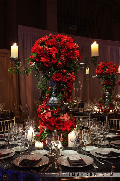 15 Unique Ways To Use Red Roses In Your Wedding Red Centerpieces Red Roses Centerpieces Red Rose Wedding