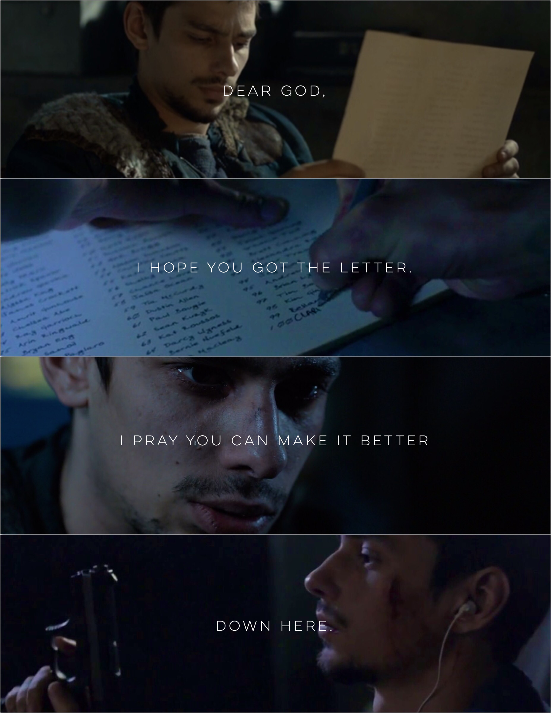 Dear god, I hope you got the letter. | Jasper Jordan | The 100