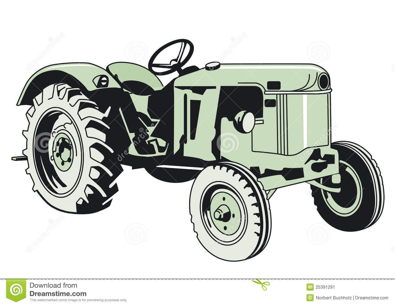 Image From Http Thumbs Dreamstime Com Z Drawing Green Tractor