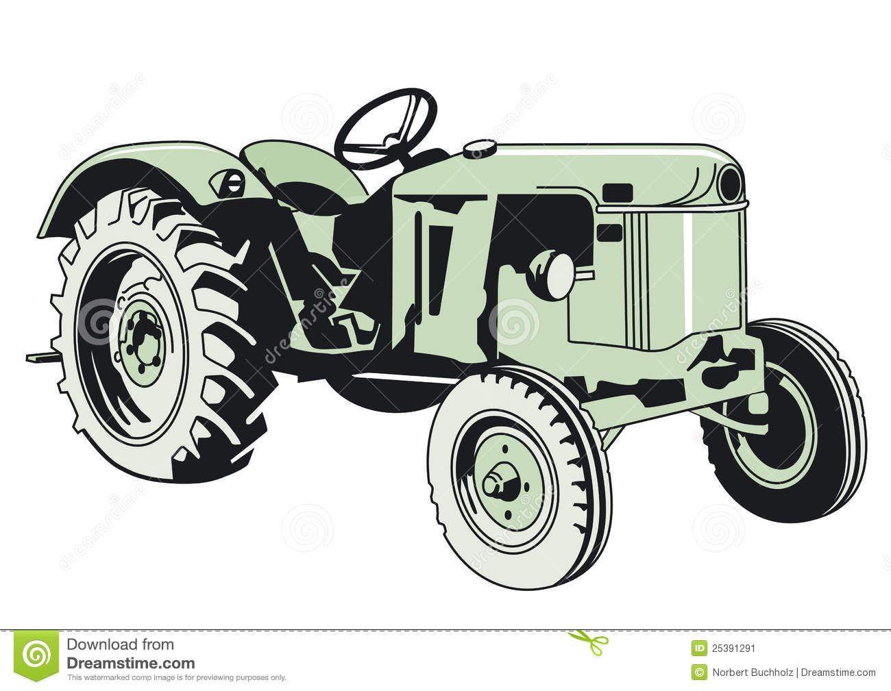 Ausmalbilder Traktor Deutz : Image From Http Thumbs Dreamstime Com Z Drawing Green Tractor