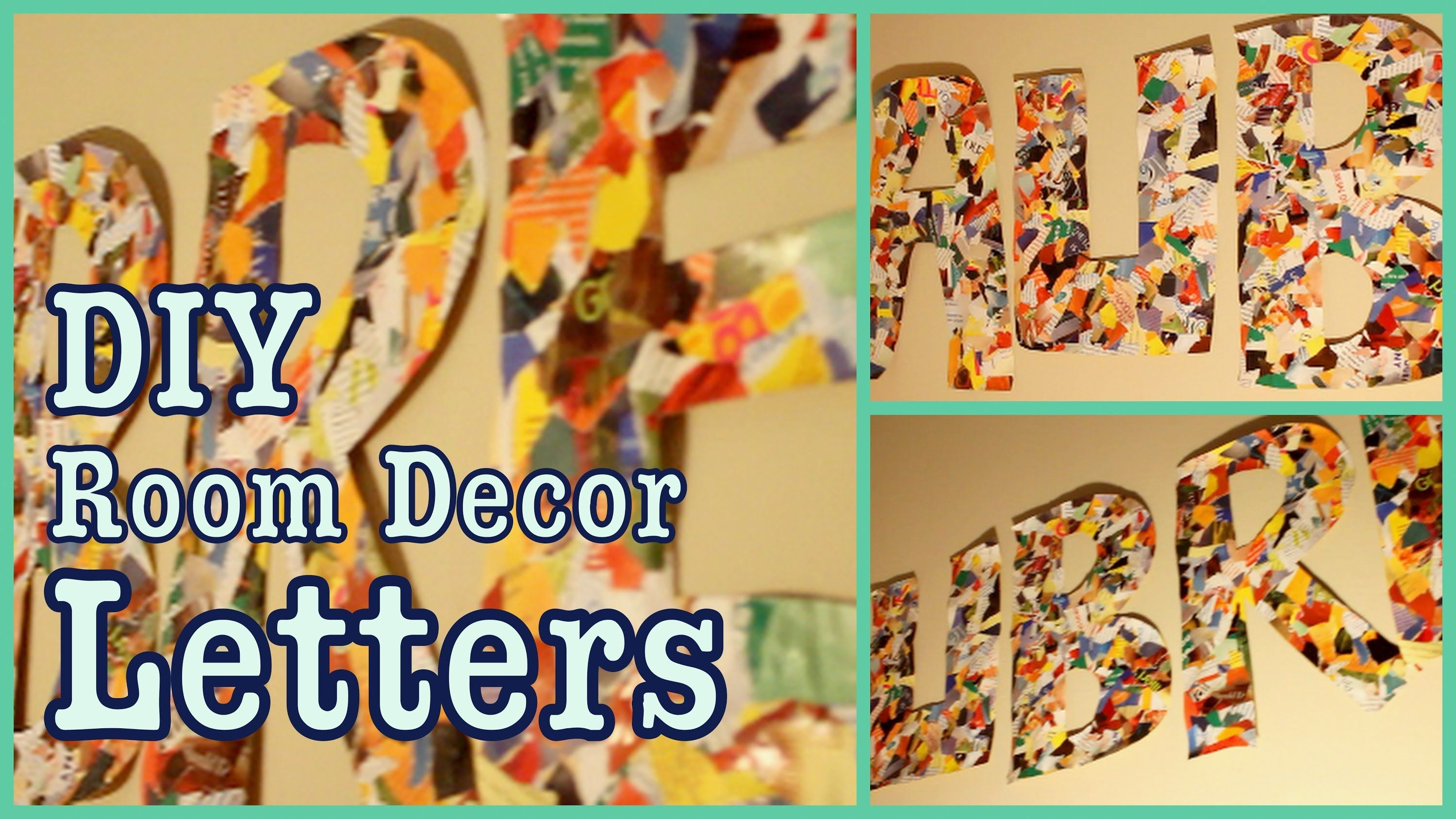 DIY: Room Decor Letters! ✽ Wall Art Decor | DIY ~ LETTERS ...