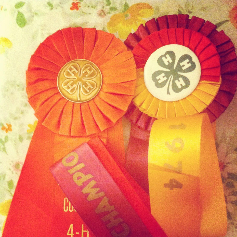Beautiful vintage prize ribbons