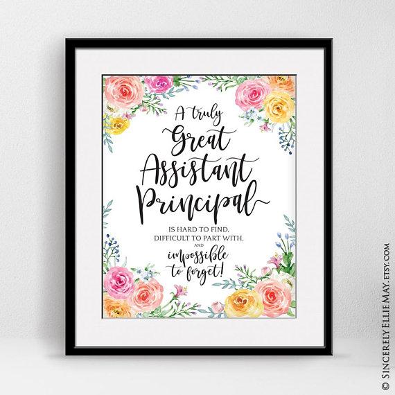 Assistant Principal Retirement Gift Appreciation Quote Sign Wall