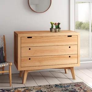 Mistana Torrey Retro 3 Drawer Dresser Dresser Drawers Modern
