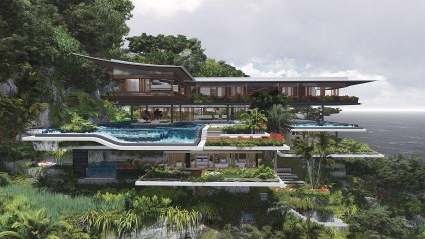 Architecture Exterior Xlima Residence Modern Residence Stone