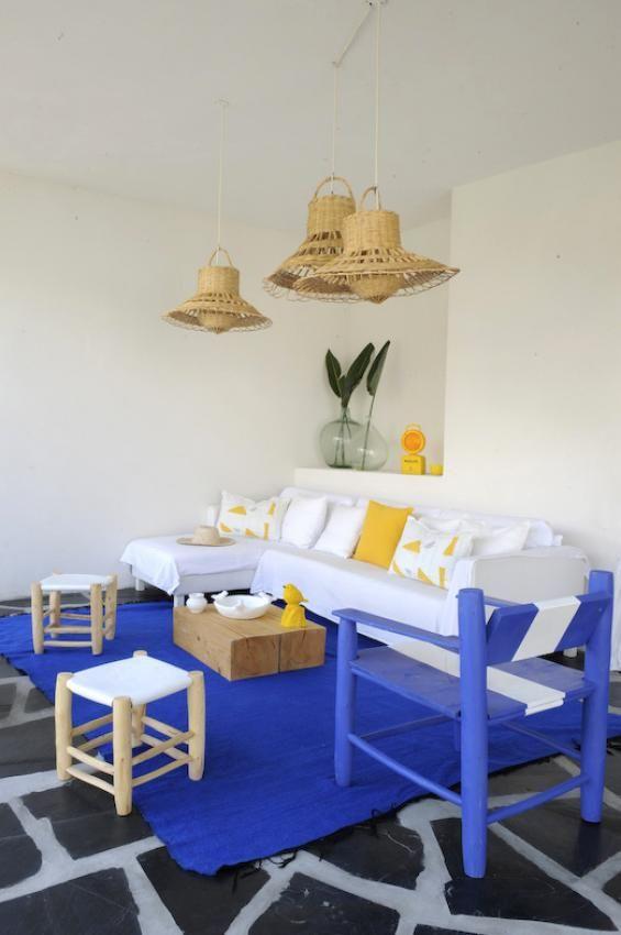 Bleu Majorelle Salon D Extérieur Deco Maroc Et Décoration
