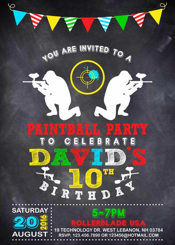 Paintball party invitation paintball party paintball birthday paintball party invitation paintball party paintball by mymyparty stopboris Image collections