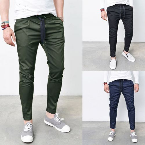 Must Have Mens Fashion Banding Drawcord Ankle Slacks Pants By ...