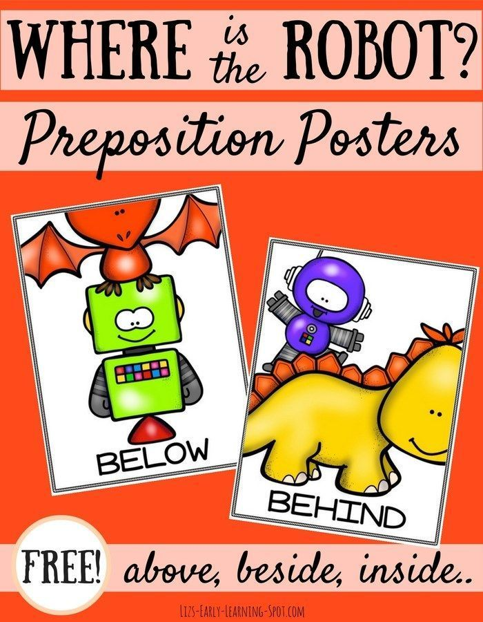 Preposition In Learn In Marathi All Complate: Free Robot Preposition Posters