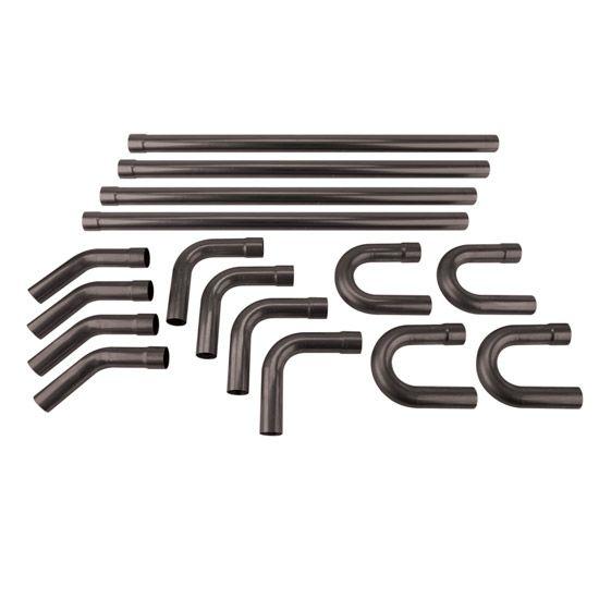 Universal Mild Steel Dual Exhaust Mandrel Bend Kit, 2-1\/2 Inch - 2 1 degree